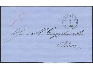 Norway. Prephilately. Very nice folded letter sent from TRONDHJEM 16.3.1865 to Röraas.