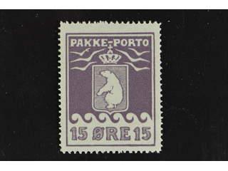 Denmark Greenland. Facit P8II ★ , 15 öre violet second print. Superb quality.