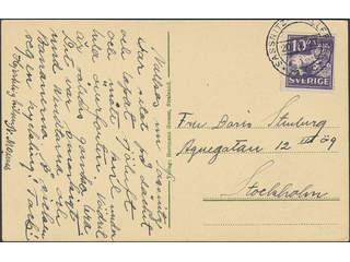 Sweden. Facit 145A. GERMANY. German cancellation SASSNITZ-TRELLEBORG 142C on postcard …
