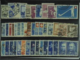 Switzerland. Used 1928–51. All different, e.g. Mi 224, 362, 394, 434, 438, 548-49, 553, …