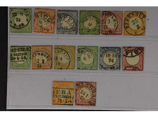 Germany Reich. Used 1872. All different, e.g. Mi 2-3, 5, 7, 9, 14, 17, 21(signed …