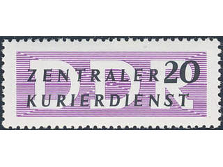 Germany GDR (DDR). Official Michel ZKD7 X ★★ , 1956 20 (pf), (B) for administrative …