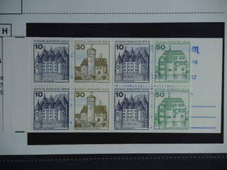 Germany GFR (BRD). Booklet Michel MH11de ★★ , 1965 Buildings 10 × 20 pf red.