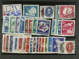 Germany GDR (DDR). Used 1949–55. All different, e.g. Mi 242, 259, 268, 270, 280-83, …
