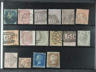 Britain. Used 1841–1876. All different, e.g. Mi 4, 13z, 14, 19-20, 24-25, 28, 38a+b, 40, …