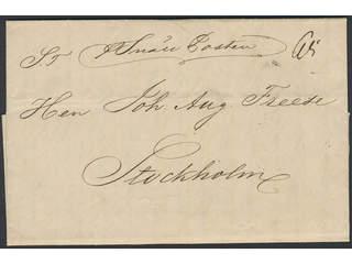 "Sweden. General mail. Letter sent from GÖTHEBORG 6.10.1846 ""pr Snäll Posten"" (express …"