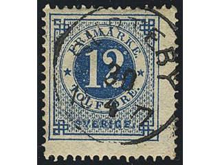 Sweden. Facit 21, P county. SURTEBY 30.4.1877. Superb cancellation. Postal:250:-