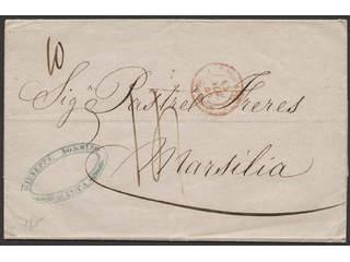 """Malta. Prephilately. Unpaid cover with content dated """"Malta 12 Novbre 48"""" sent to …"""