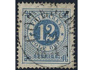 Sweden. Facit 21 used , 12 öre blue. EXCELLENT cancellation GÖTEBORG 24.4.1874.