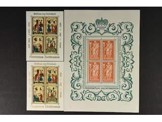 Liechtenstein. ★★/★/⊙ 1936–72. 10 souv.sheets: 2 ea of souv.sheet 2, 3 ea of souv.sheet …