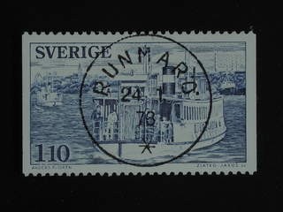 Sweden. Facit 1018 used , 1977 Local Transport 1.10 Kr blue-grey. EXCELLENT cancellation …