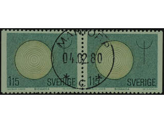 Sweden. Facit 1114BB used , 1980 Renewable Sources of Energy 1.15 Kr green/light brown …