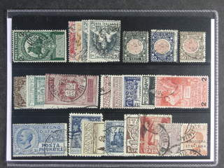 Italy. Used 1912–26. All different, e.g. Mi 107 II, 120-23, 138-42, 157-59, 174, 224B, …